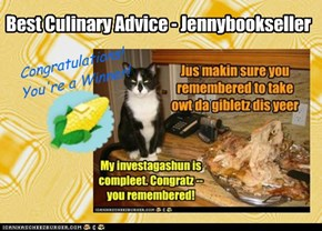 Best Culinary Advice - Jennybookseller