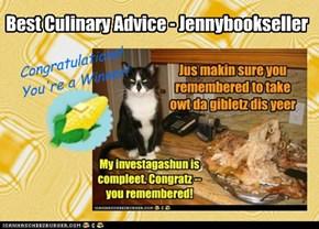 Best Culinary Advice - Jennybookseller