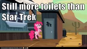 Still more toilets than Star Trek