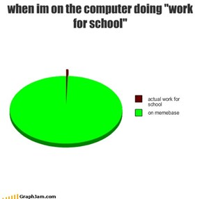 "when im on the computer doing ""work for school"""