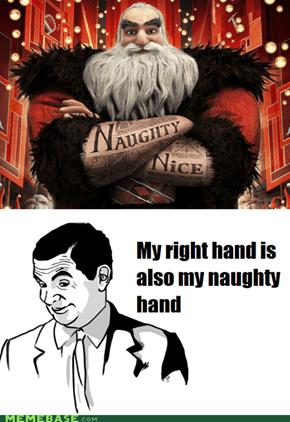 Santa's a righty.