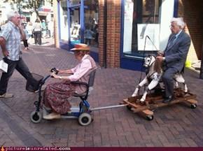 faster grandma! faster!