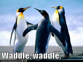Waddle, waddle.