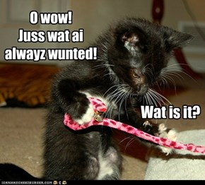 Its a dangly wiff a bell!