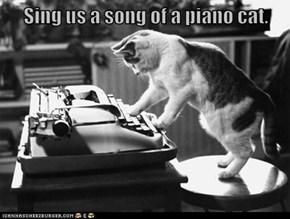 Sing us a song of a piano cat.