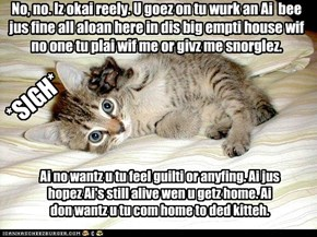 Guilt-trip kitty is laying it on thick