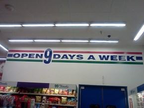 We're Open on Mondnesdays