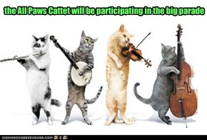 the All Paws Cattet will be participating in the big parade