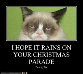 I HOPE IT RAINS ON YOUR CHRISTMAS PARADE