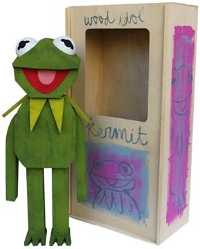 Handmade Wooden Kermit