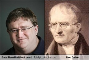 Gabe Newell without beard Totally Looks Like Jhon Dalton