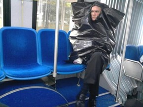 Improvised Raincoat