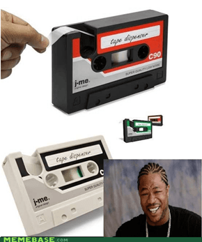 sticky cassette tapes