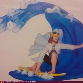 Surfer jesus