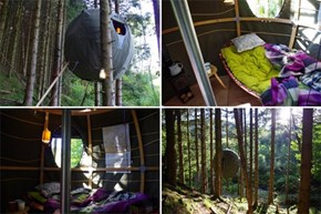 Nice Structure of the Day: Tree Tents