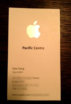 Just About the Worst Name an Apple Employee Can Have