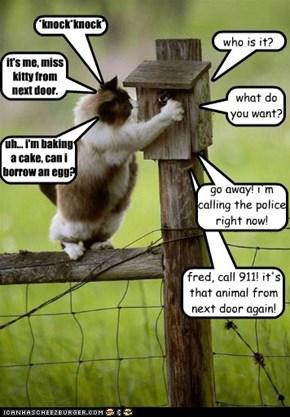 uh... i'm baking a cake, can i borrow an egg?