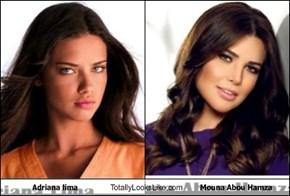 Adriana lima Totally Looks Like Mouna Abou Hamza