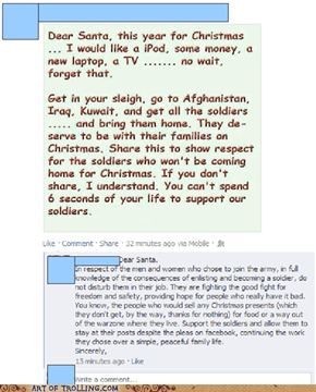 Beating pretentious facebookers at their own game