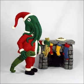 Cthulhu Santa Fills Your Stocking With Madness
