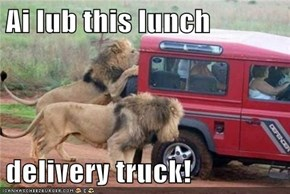 Ai lub this lunch   delivery truck!