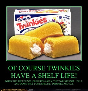 OF COURSE TWINKIES HAVE A SHELF LIFE!