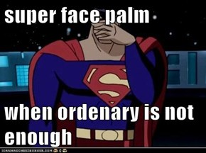 super face palm  when ordenary is not enough