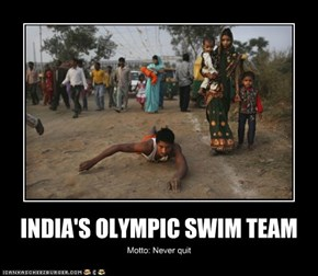 INDIA'S OLYMPIC SWIM TEAM