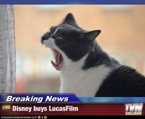 Breaking News - Disney buys LucasFilm