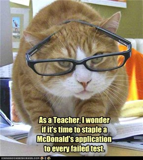 As a Teacher, I wonder if it's time to staple a McDonald's application to every failed test.