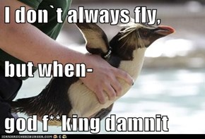 I don`t always fly,  but when- god f**king damnit