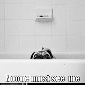 Noone must see  me