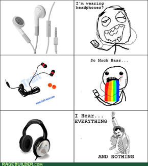 Headphone Type Reactions