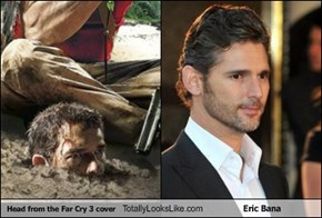 Head from the Far Cry 3 cover Totally Looks Like Eric Bana