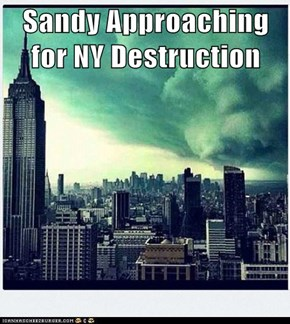 Sandy Approaching for NY Destruction