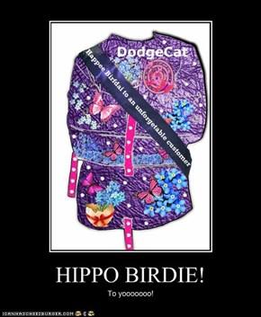 HIPPO BIRDIE!