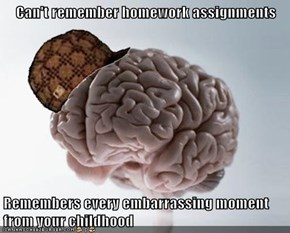 Can't remember homework assignments  Remembers every embarrassing moment from your childhood