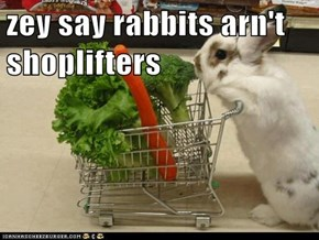 zey say rabbits arn't shoplifters