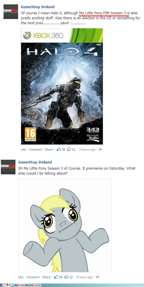 Brony Working at Gamestop Ireland Facebook