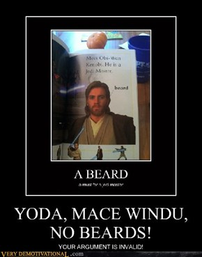 YODA, MACE WINDU, NO BEARDS!