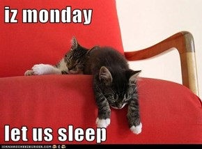 iz monday  let us sleep