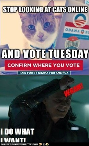 What! Obama wants me to stop looking at cats on the internet?!