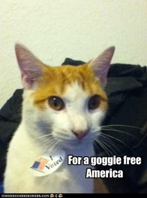 For a goggie free  America