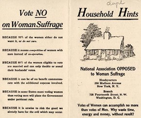 Blast From the Past, Featuring Women's Suffrage!