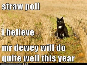 straw poll i believe mr dewey will do quite well this year