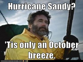 Hurricane Sandy?  'Tis only an October breeze.