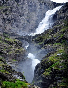 The Trollstigen Waterfall, Norway