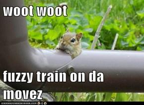 woot woot   fuzzy train on da movez