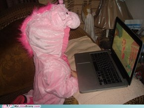 How my sis watches MLP