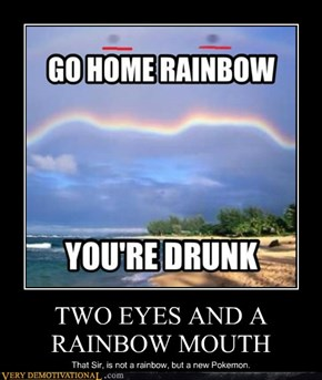 TWO EYES AND A RAINBOW MOUTH